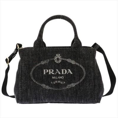 プラダ PRADA ハンドバッグ 1BG439 デニム ネロ ブラック