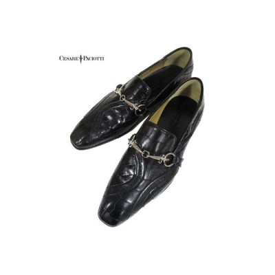 チェザーレパチョッティ CESARE PACIOTTI メンズ 靴 ローファー ローカット ダガー装飾・ビットローファー レザー ブラック 5547405 11 (R145000)  CP81A