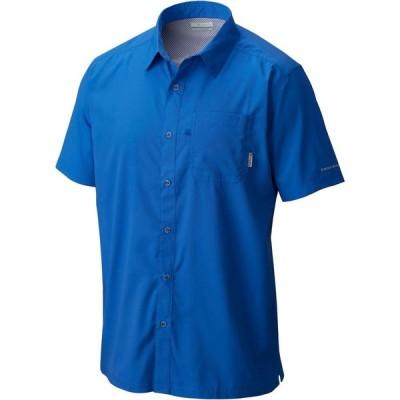 コロンビア Columbia メンズ 半袖シャツ トップス Slack Tide Camp Short Sleeve Button Down Shirt Vivid Blue