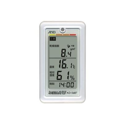 乾燥指数・熱中症指数表示付温湿度計 AD-5687 1個