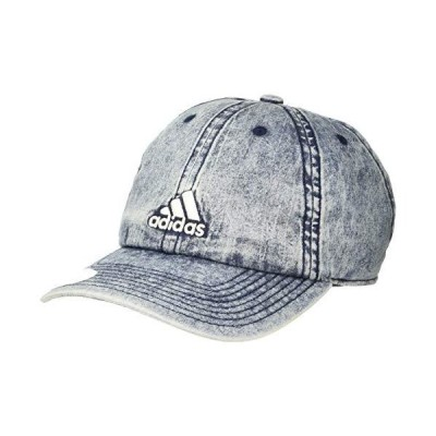 adidas Women's Saturday Plus Relaxed Adjustable Cap, Denim Wash/White, ONE SIZE【並行輸入品】