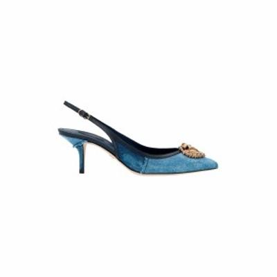 DOLCE&GABBANA/ドルチェ&ガッバーナ Light Blue Denim slingbacks with jewel detail.  レディース 春夏2021 CG0480AO6218M800 ju