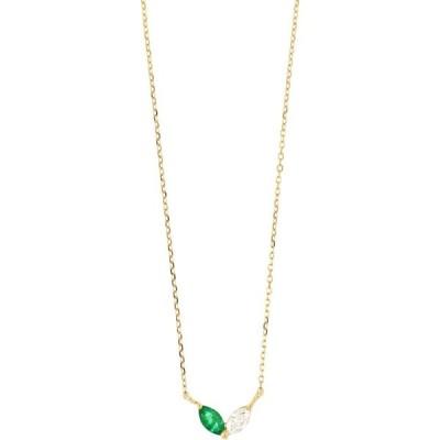 ボニー レヴィ BONY LEVY レディース ネックレス ジュエリー・アクセサリー El Mar Emerald & Diamond Pendant Necklace 18ky