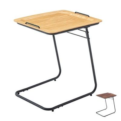 サイドテーブル 高さ56cm ソファサイド トレー テーブル 机 つくえ お盆 木製 スチール製 ( ベッドサイドテーブル ミニテーブル ソファテーブル )