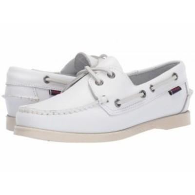 Sebago セバゴ レディース 女性用 シューズ 靴 ローファー ボートシューズ Dockside Portland White【送料無料】