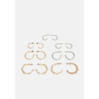 ファイヤーアンドグローリー ピアス&イヤリング レディース アクセサリー BAMBU EARRINGS 7 PACK - Earrings - gold-coloured/slver-coloured