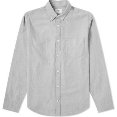 NN07 メンズ シャツ フランネルシャツ トップス Button Down Levon Flannel Shirt Medium Grey
