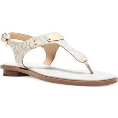 マイケル コース Michael Kors レディース サンダル・ミュール フラット シューズ・靴 mk plate flat thong sandals Vanilla