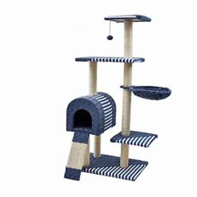 猫クライミングフレーム 子猫のツリーキャットウォッチクライムブルークラ (中古品)