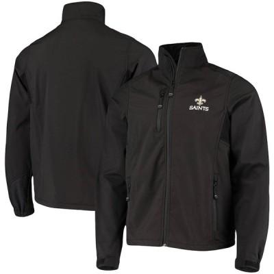 """メンズ ジャケット """"New Orleans Saints"""" Softshell Fleece Full-Zip Jacket - Black"""