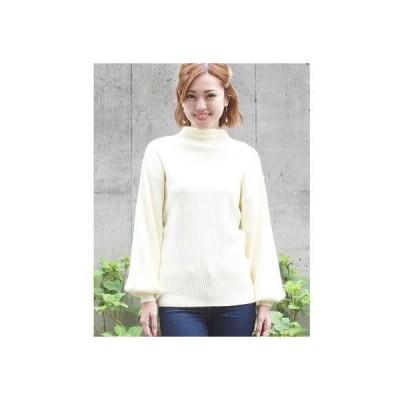 アムールボックス AMOUR BOX ボトルネック ニット セーター ボトルスリーブ バルーン袖 ゆるニット プルオーバー 韓国 韓国ファッション ボ