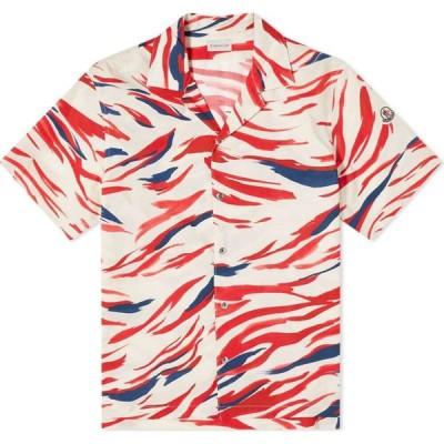 モンクレール Moncler メンズ 半袖シャツ トップス Tricolore Camo Vacation Shirt Red/White/blue