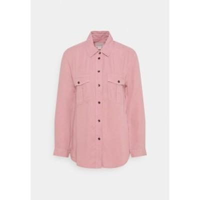 アメリカンイーグル レディース シャツ トップス CORE MILITARY - Button-down blouse - dusty pink dusty pink