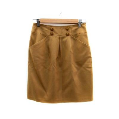 【中古】アンタイトル UNTITLED スカート 台形 ひざ丈 ウール 2 茶色 ブラウン /HO33 レディース 【ベクトル 古着】