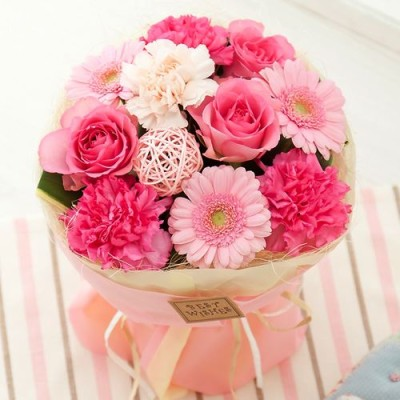 花束「スタンドブーケ~Peach~」 花 ギフト プレゼント フラワーギフト 贈り物