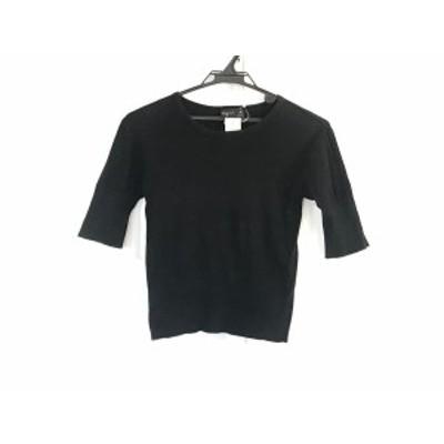 アニエスベー agnes b 半袖セーター サイズ1 S レディース 黒【中古】