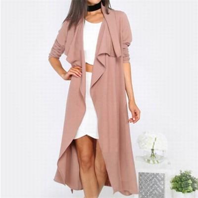 アウター コート レディース 女性 薄手 長袖 フレア スプリングコート ベルト とろみ ドレープ 可愛い かわいい かっこいい クール オシャレ お