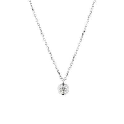 ネックレス レディース プラチナ ダイヤモンド 0.15カラット <鑑別カード・スコープ付> ブルーム ギフト プレゼント 普段使い