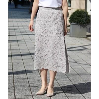 le.coeur blanc / ルクールブラン eclat スカラップレーススカート
