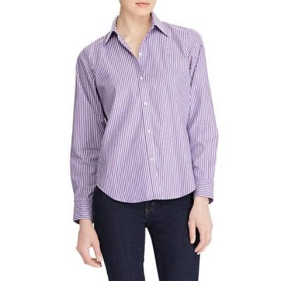 ラルフローレン レディース シャツ トップス Wrinkle-Free Striped Dress Shirt