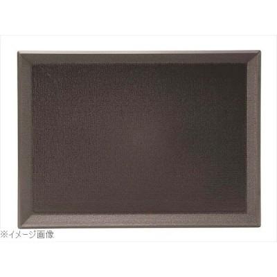 PP 長角盆 420×315 黒 ノンスリップ M44−373
