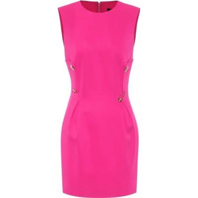 ヴェルサーチ Versace レディース パーティードレス ワンピース・ドレス Embellished minidress Fuxia