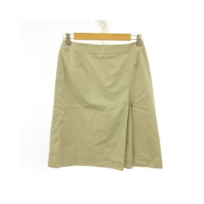 【中古】ONEIROS 膝丈スカート 台形 グレー 67 *E767 レディース 【ベクトル 古着】