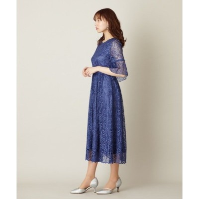 ドレス フレアスリーブ・ハシゴレースドレス