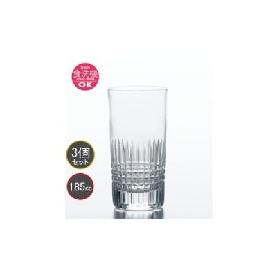 東洋佐々木ガラス カットグラス HS強化グラス 3個セット 6オンス タンブラー T-20107HS-C703