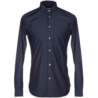 ブライアン デールズ BRIAN DALES シャツ ダークブルー 40 100% コットン シャツ