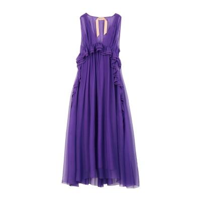 ヌメロ ヴェントゥーノ N°21 7分丈ワンピース・ドレス パープル 40 シルク 100% / アセテート 7分丈ワンピース・ドレス