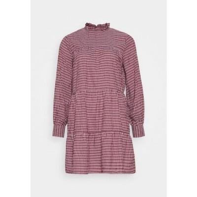 レディース ドレス ONLCAROLE LIFE DRESS - Day dress - pomegranate