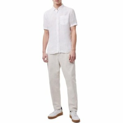 フレンチコネクション French Connection メンズ シャツ トップス Garment Dye Linen Shirt Linen White Multi