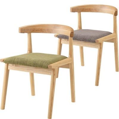 ダイニングチェア 木製 おしゃれ 天然木 引っ掛けられる 北欧 シンプルファブリック お掃除 ロボット対応 ブラウン グリーン 食卓 椅子 新生活