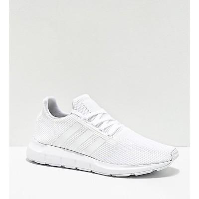 アディダス ADIDAS メンズ スニーカー シューズ・靴 Adidas Swift Run All White Shoes White