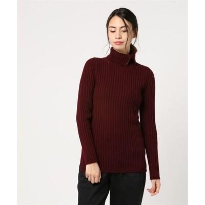 ニット Rawtus/ロゥタス/rib high neck knit