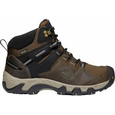 キーン メンズ ブーツ・レインブーツ シューズ KEEN Men's Steens Mid Waterproof Hiking Boots Canteen/Black/White