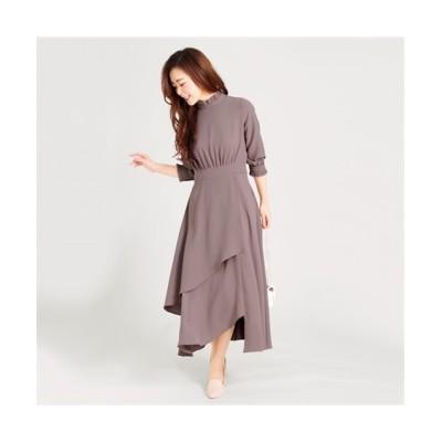 MARTHA(マーサ) フリルネックロングワンピース (ワンピース)Dress