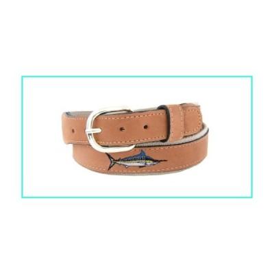 【新品】Zep-Pro Men's Tan Leather Embroidered Marlin Belt, 34-Inch, Tan/Buff(並行輸入品)