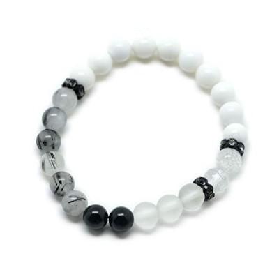 [ウエンチズコレクション] UENCHS collection 天然石ブレスレット/ホワイトオニキス・クラック水晶他 BK2006002