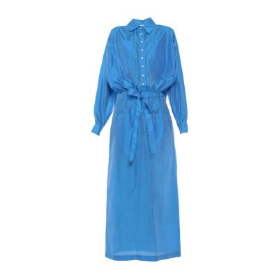 アティコ THE ATTICO ロングワンピース&ドレス ブルー 38 ポリエステル 66% / シルク 34% ロングワンピース&ドレス
