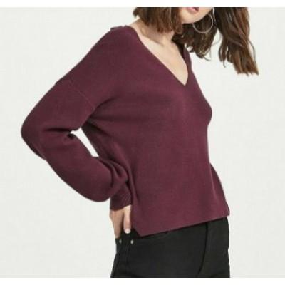 ファッション トップス Miss Selfridge NEW Purple Womens Size 8 Twist Back V-Neck Sweater