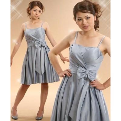 パーティードレス ワンピース キュート サイズ9号(M)・11号 (L)・13号(LL) ミドル丈 結婚式・謝恩会・パーティーにピッタリのサテンのドレス!802