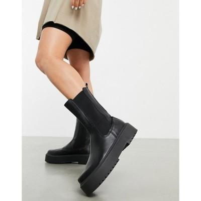 エイソス レディース ブーツ・レインブーツ シューズ ASOS DESIGN Alana chunky chelsea boots in black