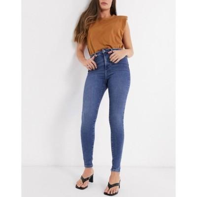 ヴェロモーダ レディース デニムパンツ ボトムス Vero Moda skinny jeans in blue