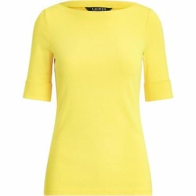 ラルフ ローレン Lauren by Ralph Lauren レディース 長袖Tシャツ トップス Judy Elbow Sleeve T Shirt Athletic Gold
