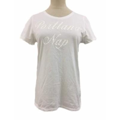 【中古】ガリャルダガランテ GALLARDAGALANTE Tシャツ クルーネック プリント 半袖 F 白 ホワイト レディース
