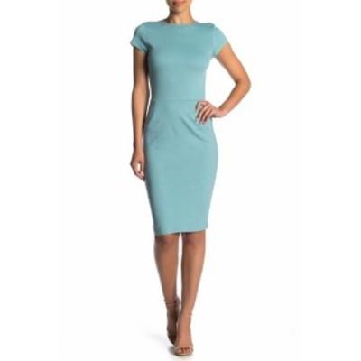 ファッション ドレス Love...Ady NEW Surf Blue Womens Size Small S Cap Sleeve Sheath Dress