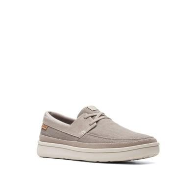クラークス ドレスシューズ シューズ メンズ Men's Cantal Lace Slip-On Shoes Stone Canvas