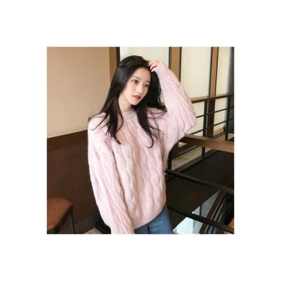 【送料無料】ルース ヘッジ オーバーサイズ セーターの女性 秋冬 韓国風 着やせ 何でも似合 | 364331_A63969-8629323